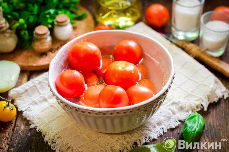 Промывка томатов
