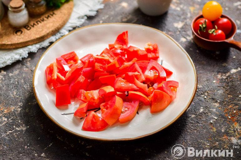 Перец и помидоры