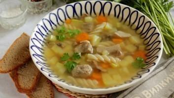Суп на свином бульоне