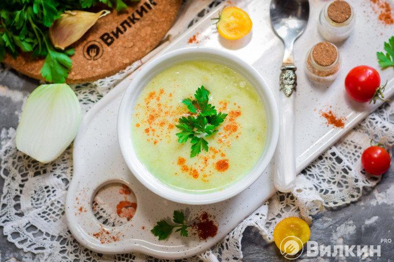 Кабачковый суп-пюре на обед