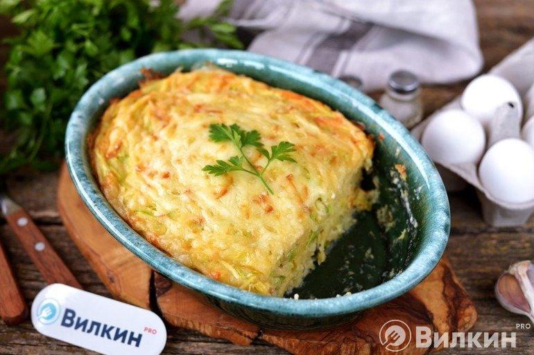 Овощная запеканка с кабачками и картошкой