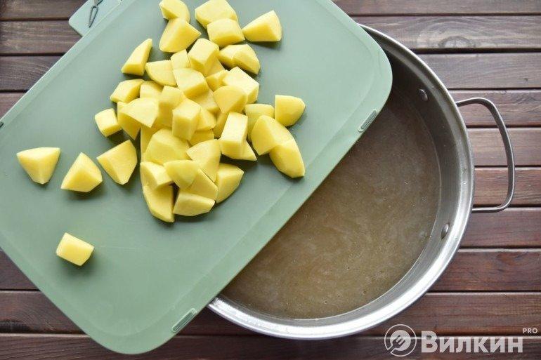 Закладка картофеля
