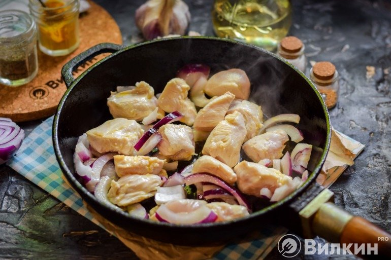 Филе с луком