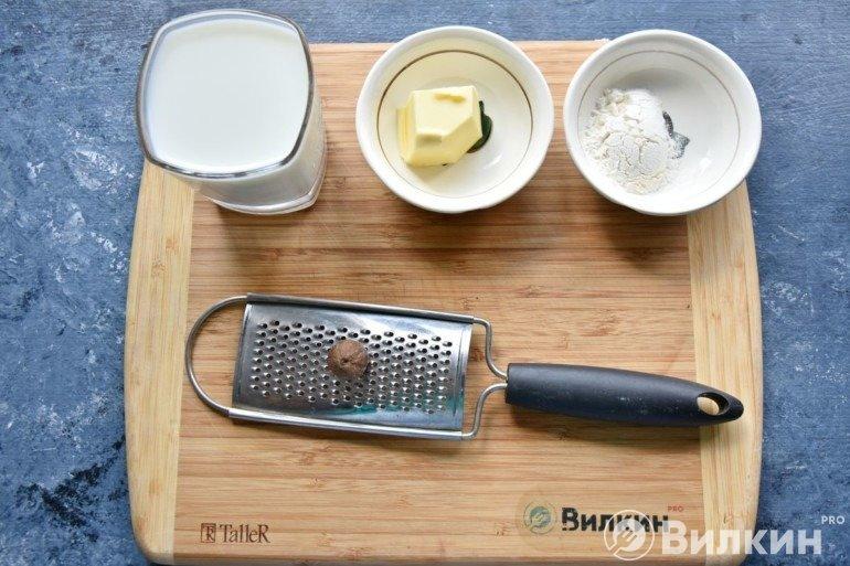 Продукты для белого соуса
