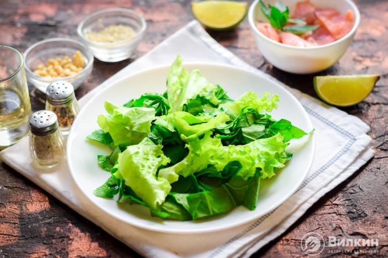 Салатные листочки
