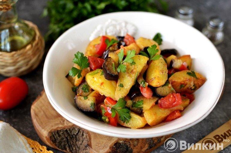 Овощное рагу со сковороды