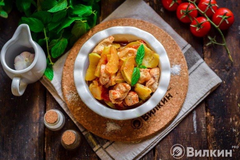 Порция готового блюда