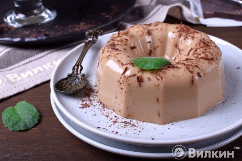 Молочное желе со вкусом мокко