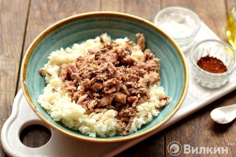 Соединение риса с рыбой