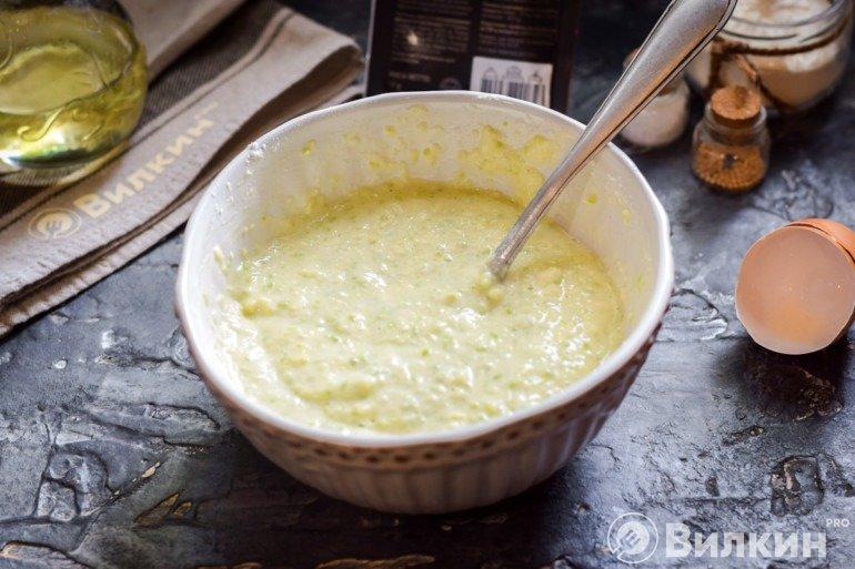 Тесто для кабачковых оладушек