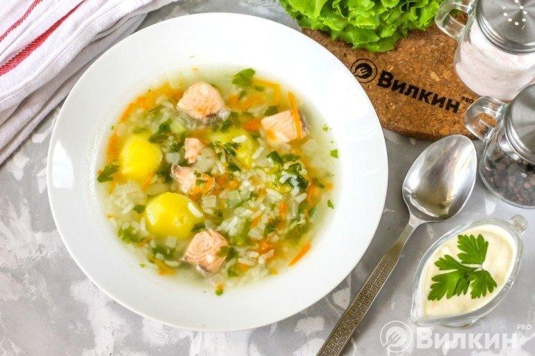 Суп из семги на обед