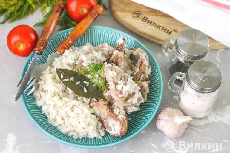 Рис с бараниной на ужин