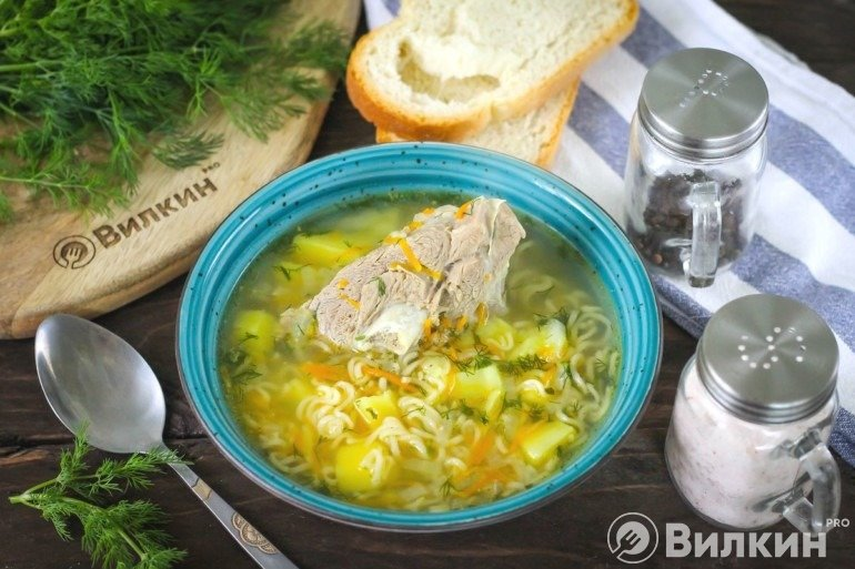 Порция готового супа