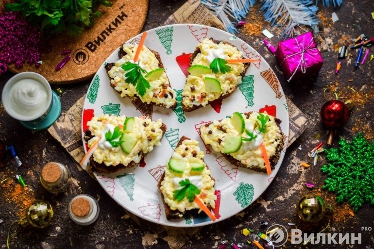 Бутерброды «Крыски» на Новый год