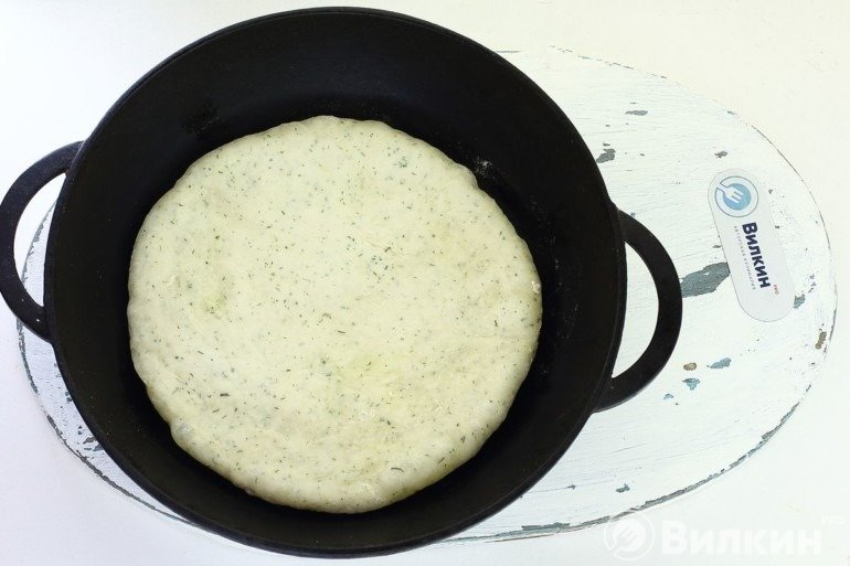 Выкладка на сковороду