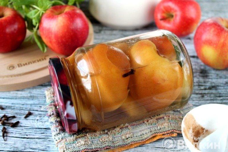 Маринованные яблоки на зиму в домашних условиях