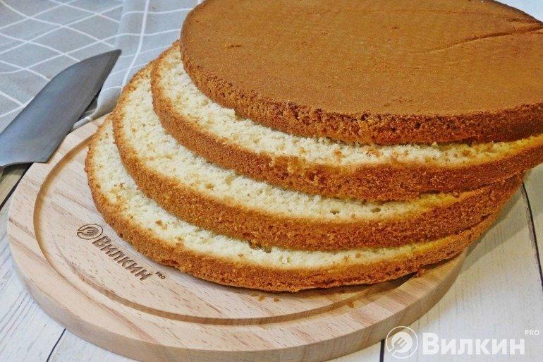 Пышные бисквитные коржи для торта