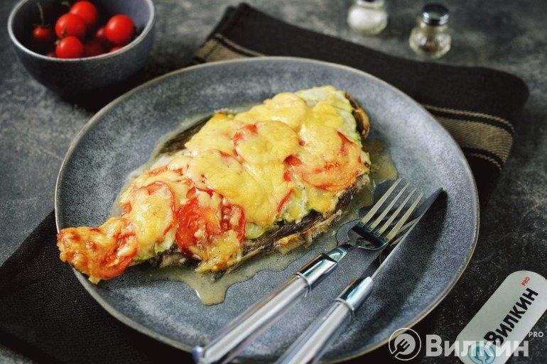 Рыба с кабачками в духовке