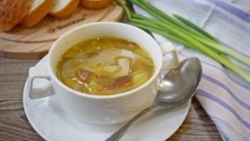 Суп из белых грибов замороженных