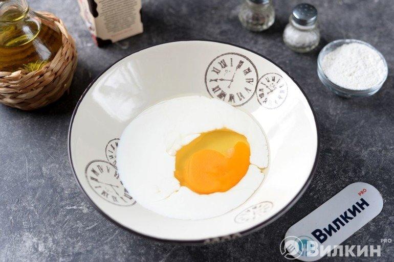 Сливки с яйцом