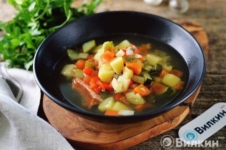Суп с кабачками и картошкой