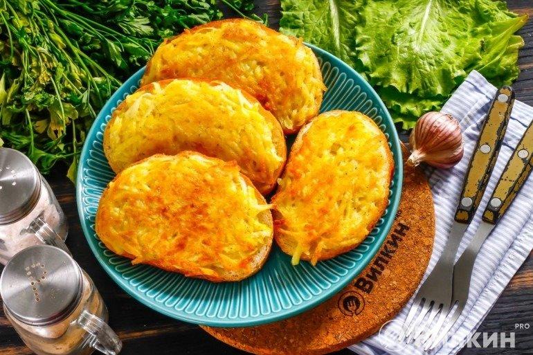 Бутерброды с картошкой для сытного перекуса