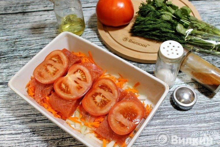 Кружки томатов