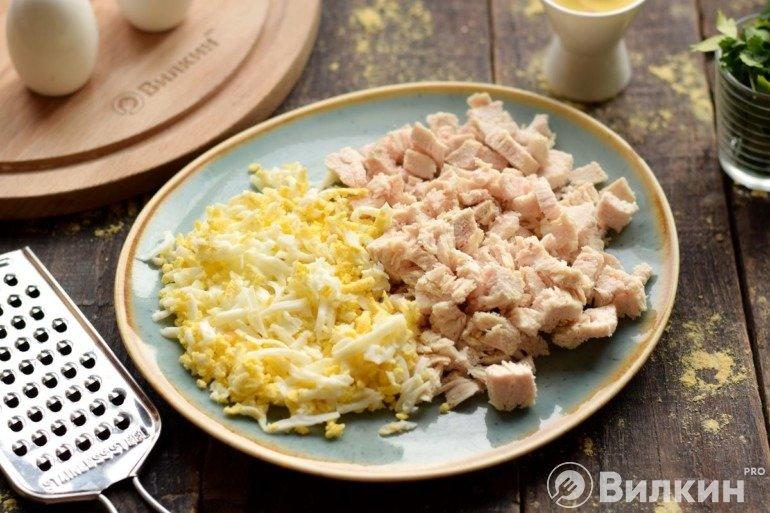 Яйца и филе