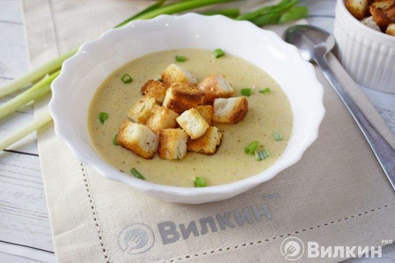 Крем-суп из белых грибов на обед