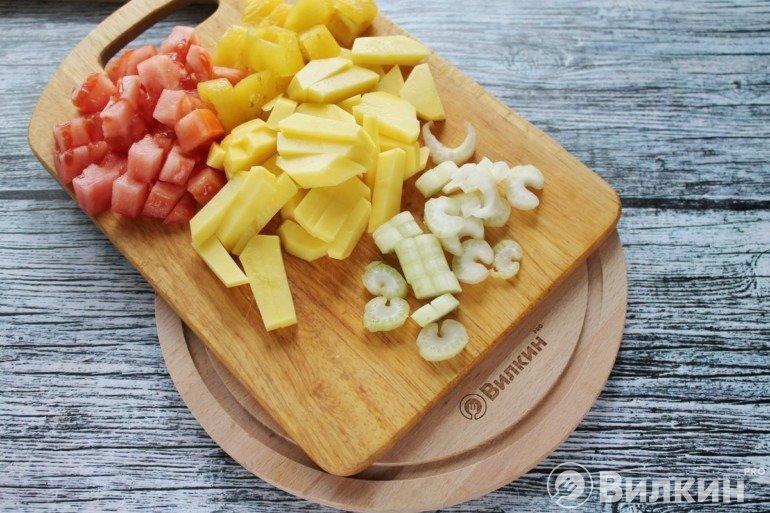 Картофель, томаты, сельдерей