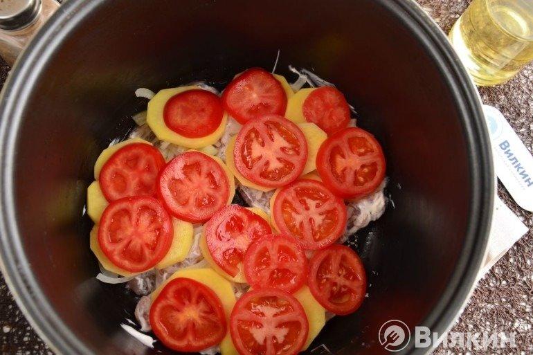 Кружки помидоров