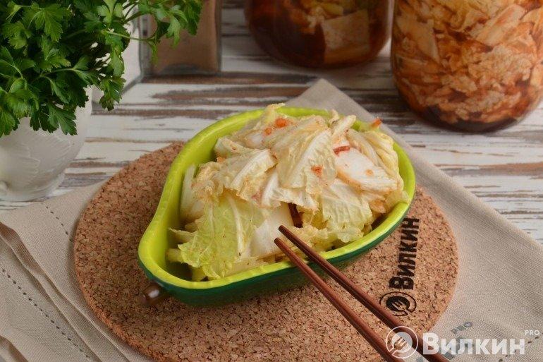 Корейская закуска из пекинской капусты