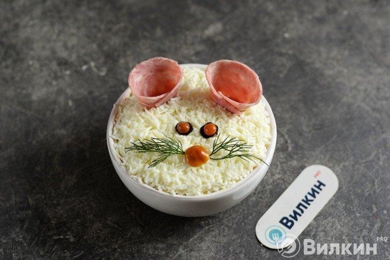 Оформление в виде мышки