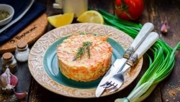 Салат «Рыжик» с морковью