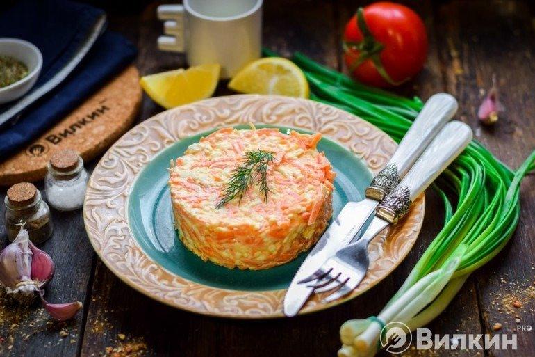 Салат «Рыжик» с морковью и сыром