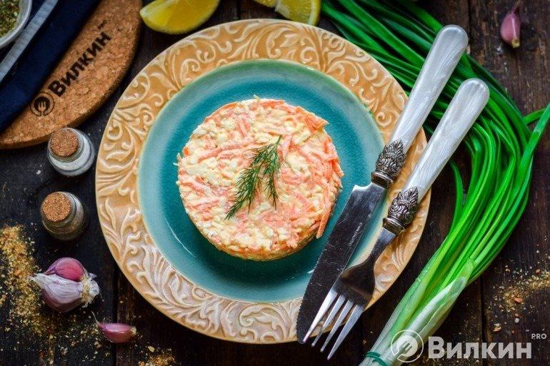 Простой салат «Рыжик»