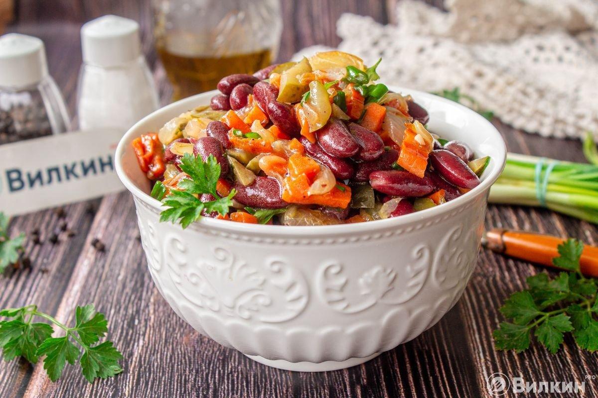 Салат с фасолью рецепт с картинками