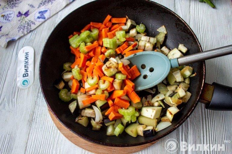 Соединение овощей