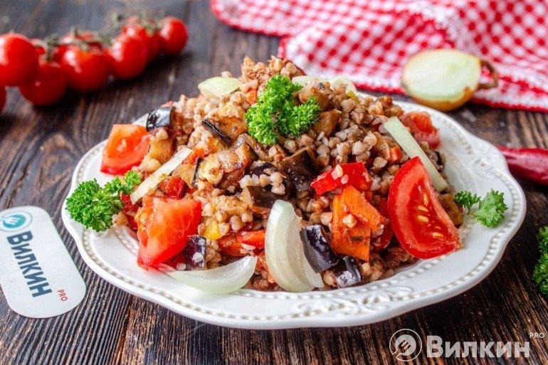 Салат с гречкой