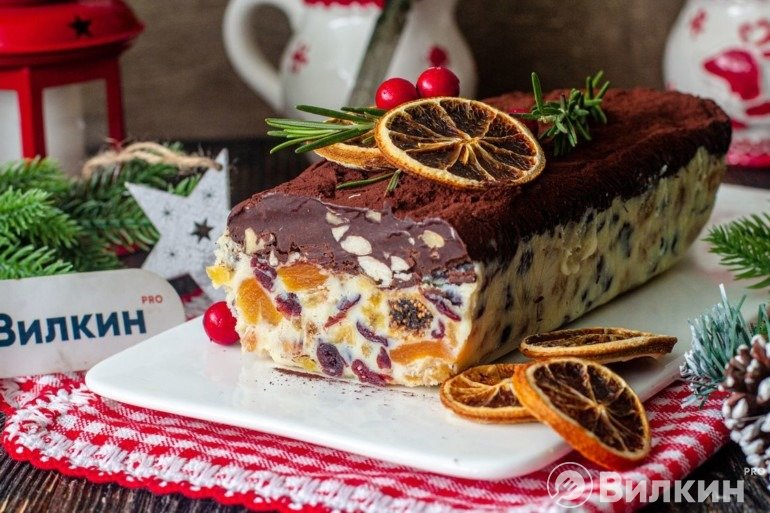 Шоколадный слиток на новогодний или рождественский стол