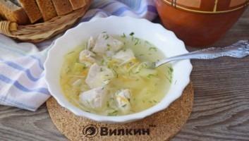 Суп из индейки с вермишелью
