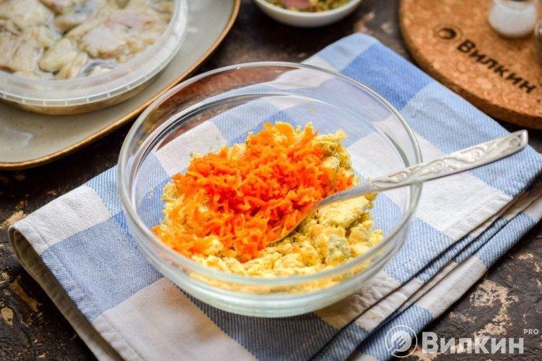 Желтки с морковью