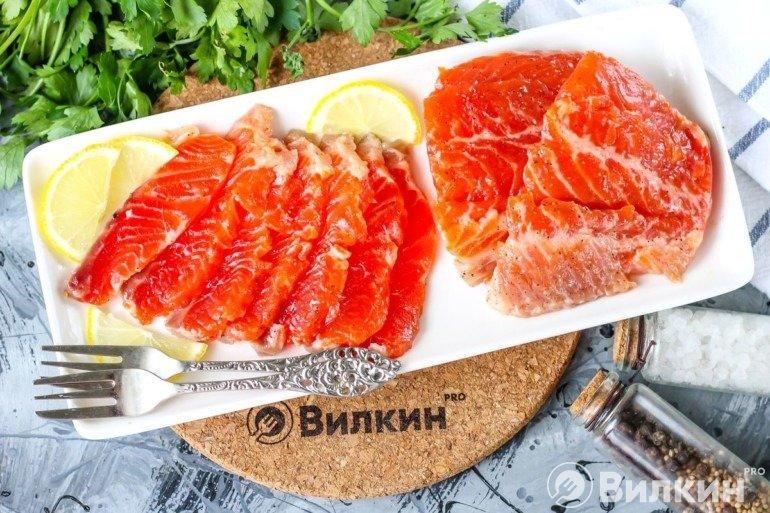 Слабосоленый лосось в домашних условиях