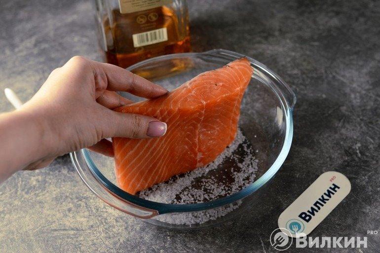 Обтирание рыбы
