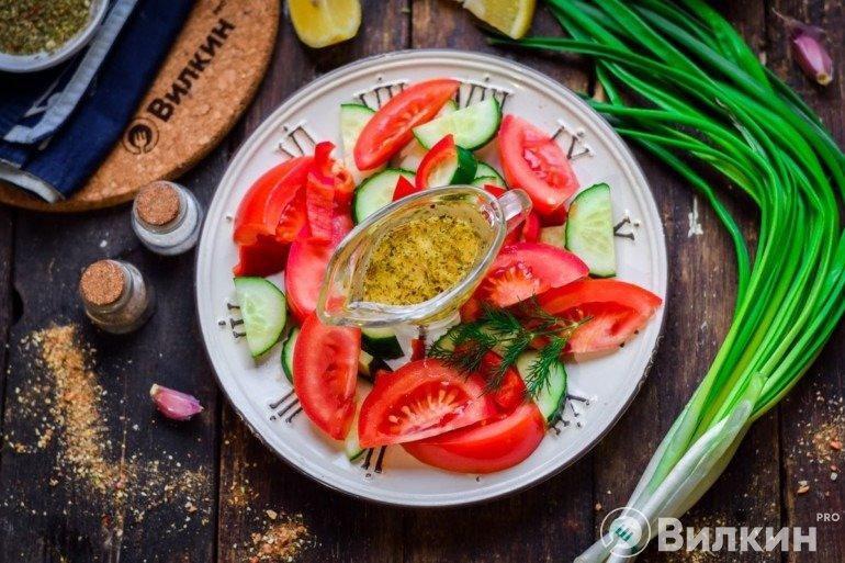 Готовая заправка к овощному салату