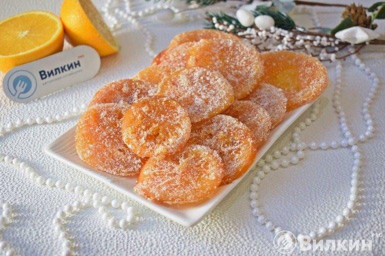 Карамелизированные апельсины на десерт