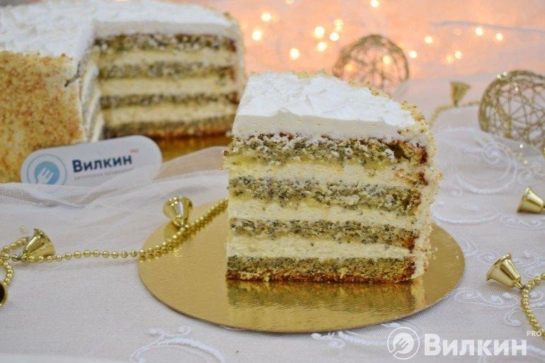 Маковый торт с лимонным курдом