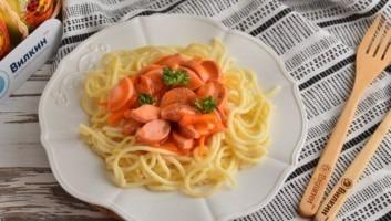 Подлива из сосисок к макаронам