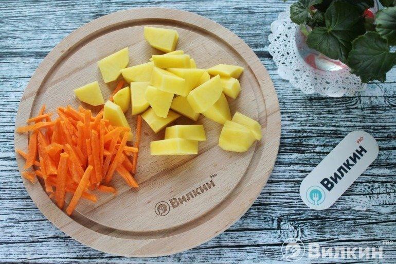 Картофель и морковь