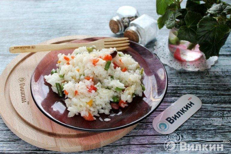 Рис с гавайской смесью в микроволновке